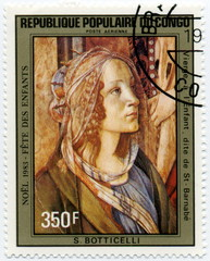 Timbre 1983 République du Congo; Botticelli.