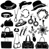 women accessories vector poster