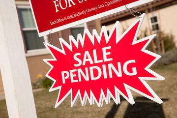 Sale Pending Real Estate Burst Sign