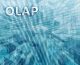 OLAP Business Intelligence illustration poster