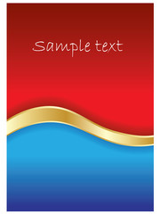 Red & blue background