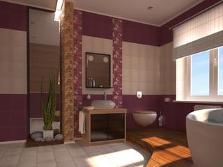 Oriental bathroom