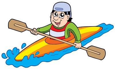 Cartoon kayaker
