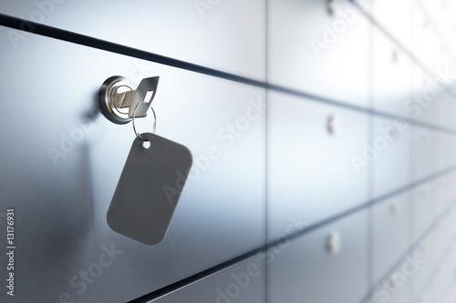 Leinwandbild Motiv Safe bank