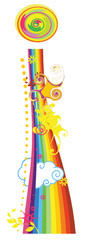 Rainbow letter for design