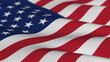 Flag of the USA - seamless loop - shallow depth of field