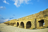 The aqueduct of the Roman period at coast poster