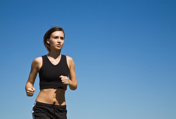 Girl running outdoor