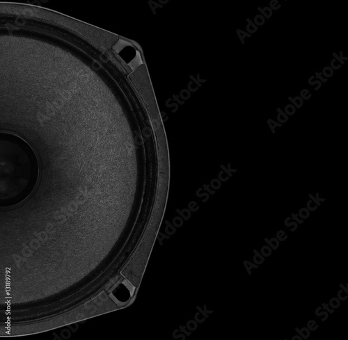 Speaker on black background