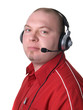 man - consultant with headset