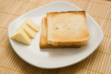 toasts and butter