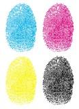 Fototapety CMYK Fingerprints