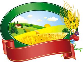 vector illustration of  landscape in summer day