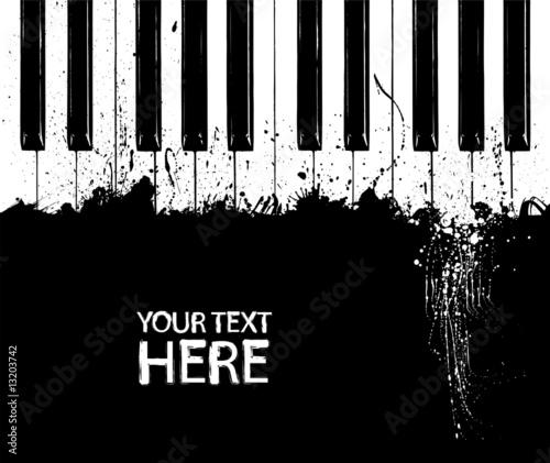Dirty piano keys - 13203742