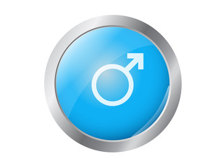 male blue button