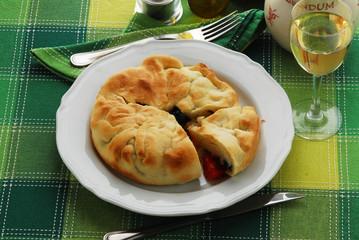 Focaccia di Lissa - Vis - Con farcia di pomodori e sardelle