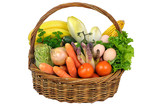 un panier de légumes frais.