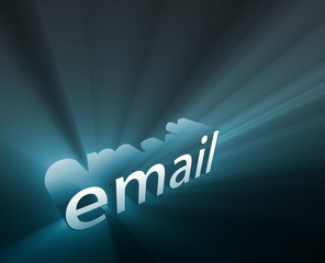 Email glowing