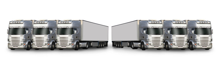 six camions