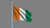 Flag of Ivory Coast with alpha matte for easy isolation poster