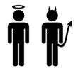 """Angel and Devil"" Stickmen"