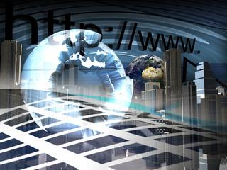 globalizzazione, mondo, internet