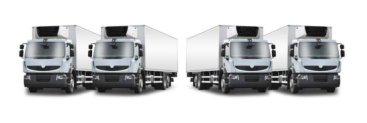 4 camions frigorifiques