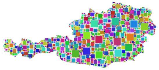 Mosaico colorato dell'Austria