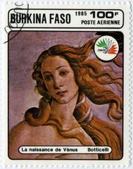 Burkina Faso Poste aérienne Naissance de Vénus Botticelli