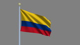 Flag of Colombia with alpha matte for easy isolation poster