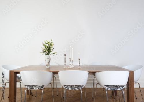 Leinwanddruck Bild Modern dining room