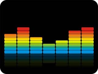 Bunte Audiobalken Black
