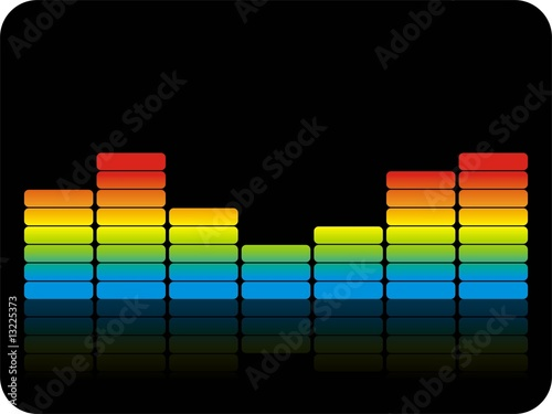 Bunte Audiobalken Black