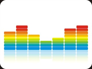 Bunte Audiobalken White