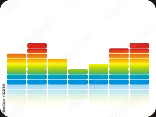Bunte Audiobalken White