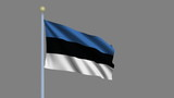 Flag of Estonia with alpha matte for easy isolation poster