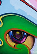 Quadro Graffiti eye