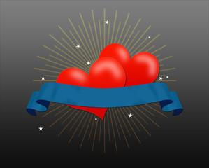 valentine hearts banner