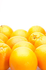 oranges with place for text