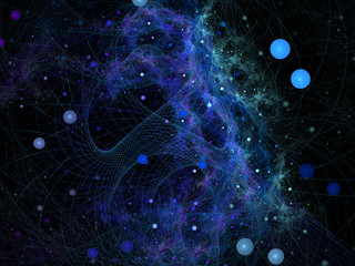 Abstract digitally rendered fractal galaxy. Background or wallpa