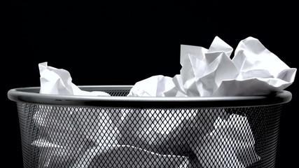 Filling The Trash Bin - Time Lapse