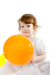 Cute baby girl with the air balloons