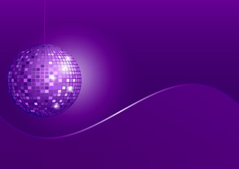 Disco Sphere on Violet Background