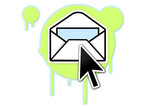 Newsletter icon poster