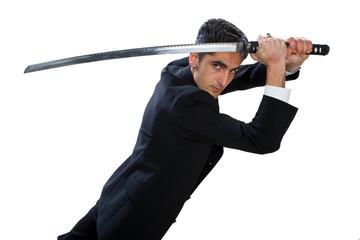 Handsome man with sword.