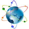 terre electron satelite