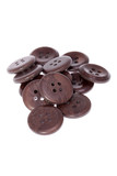 Pile of brown buttons