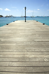 A pier in philpsburg in Saint Martin in the caribbean