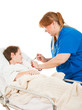 Nurse Gives Boy a Shot
