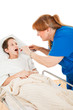 Nurse Looks in Childs Throat